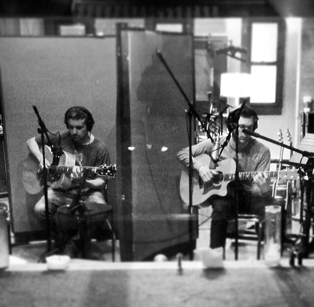 Phillip Phillips and Errol Cooney in the studio.