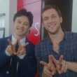 Phillip Phillips before his performance on Sukkiri. Photo: @ntv_sukkiri