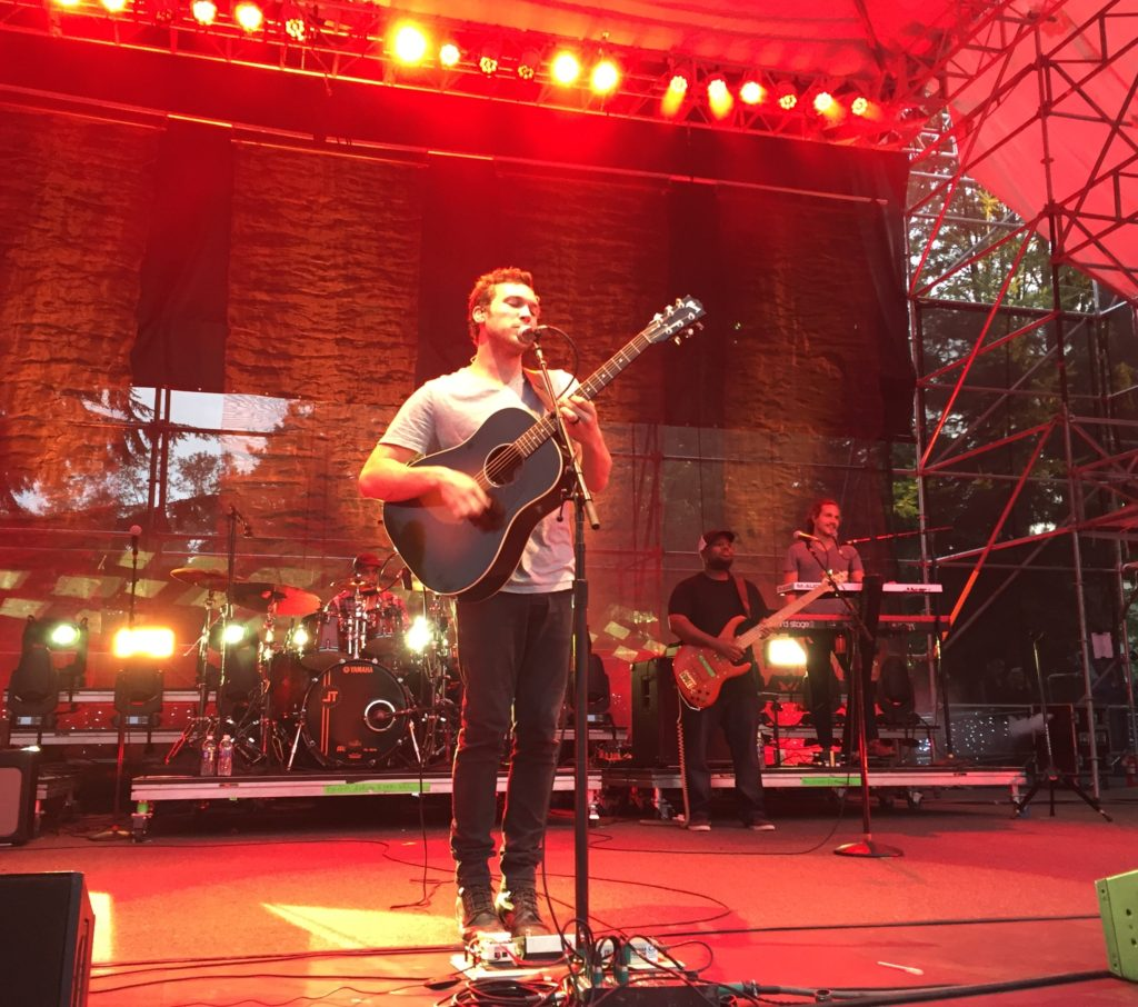 Phillip Phillips and band play the Woodland Park Zoo stage in Seattle, WA. Photo credit: PhillPhillcom.